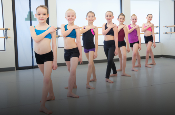 A ballet class at capital city dance