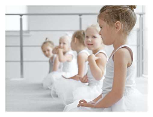 Tiny Tots participate in a ballet class at Capital City Dance