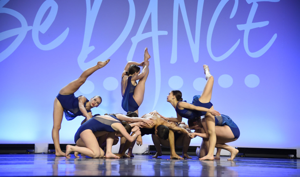 Capital City Dance's competitive team performs on stage