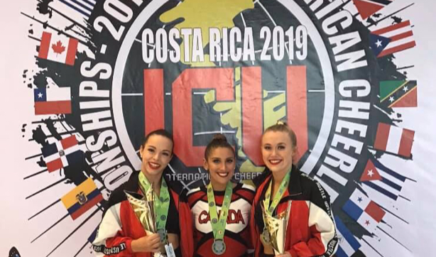 Capital City Dance's competitive team at the Costa Rica ICU competition