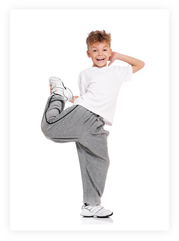 A young boy dances hip hop at capital city dance