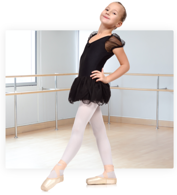 A ballet dancer strikes a pose at capital city danceb