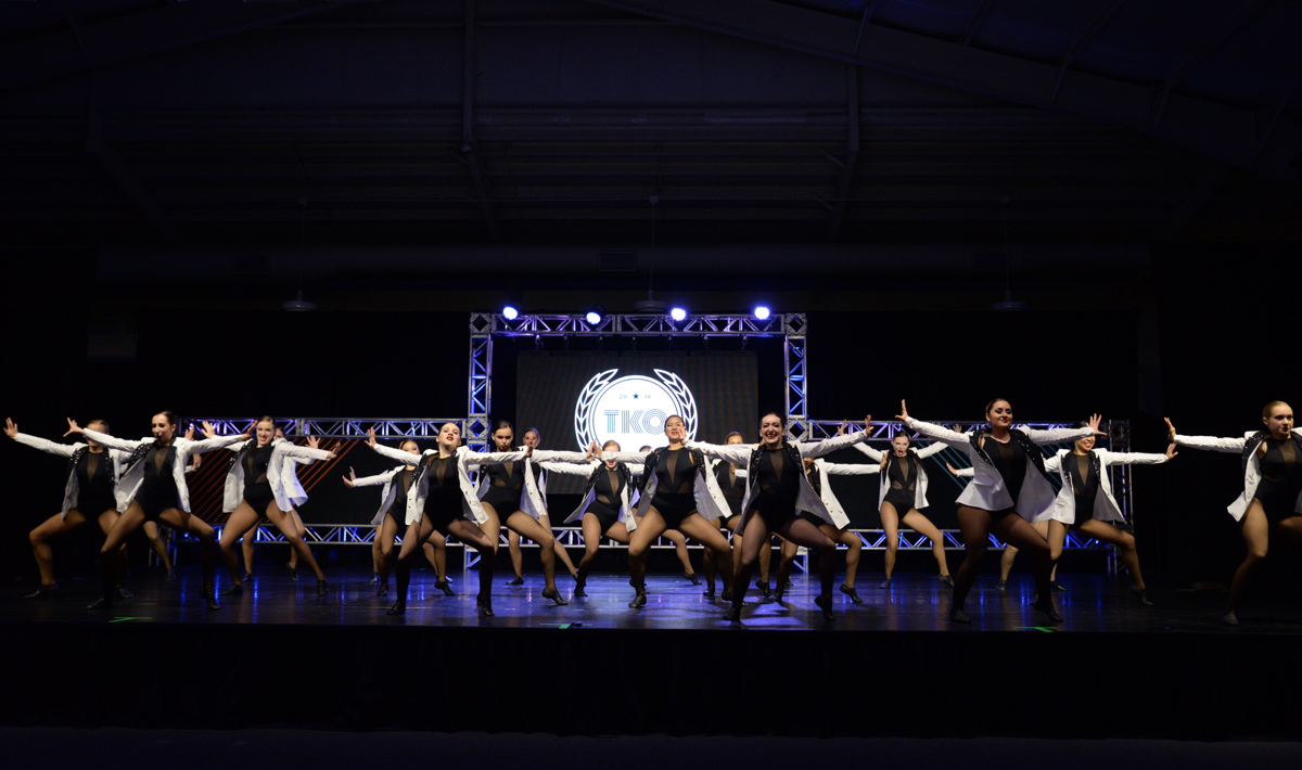 The Capital City Dance team performs onstage at the TKO competiton