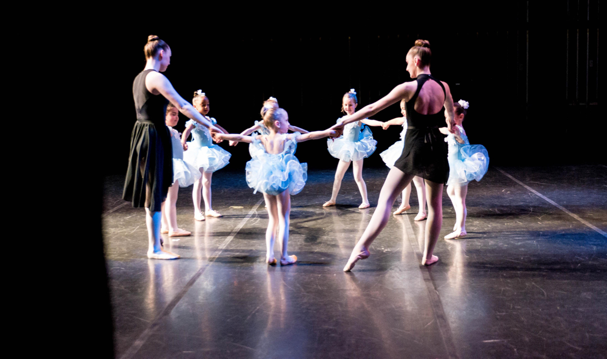 Young dancers at capital city dance perform at a recital
